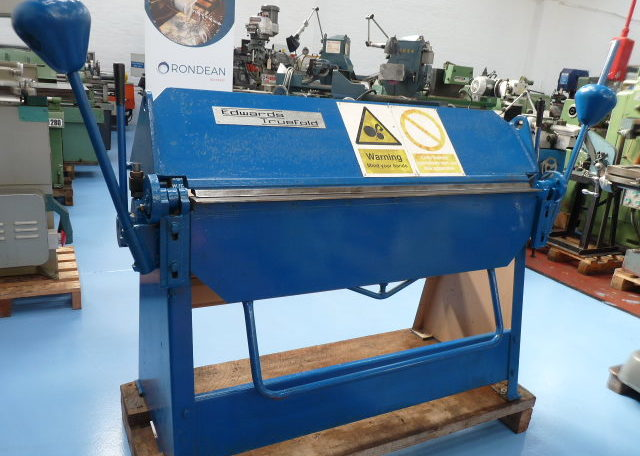 Edwards Hand Operated Straight Sheet Metal Folder
