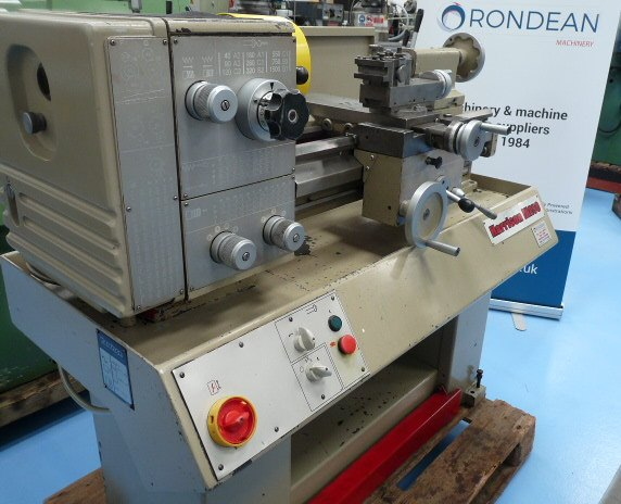 Harrison M250 Straight Bed Centre Lathe Short Bed single phase