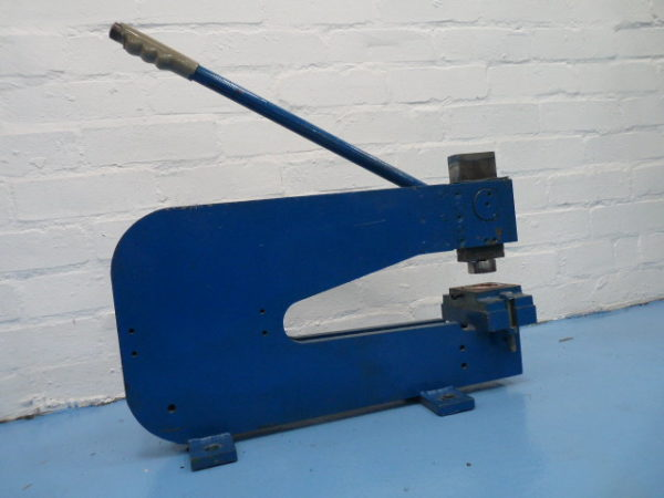 "Hunton Hand Operated Bench Punch 12"" 300mm throat 3 ton capacity"